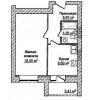 1-комнатная квартира в новостройке ул. Бурденко